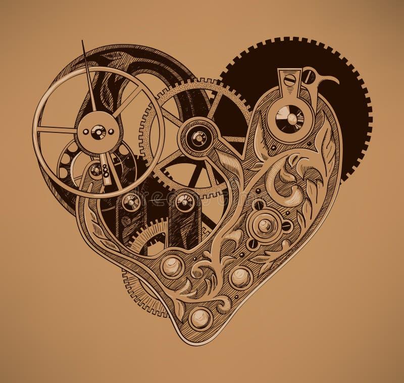 Ilustracja machinalny serce zdjęcie royalty free