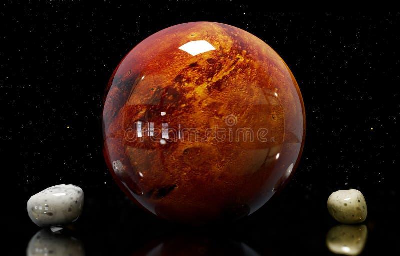 ilustracja Mars księżyc i gwiazda Elementy ten imago ilustracja wektor
