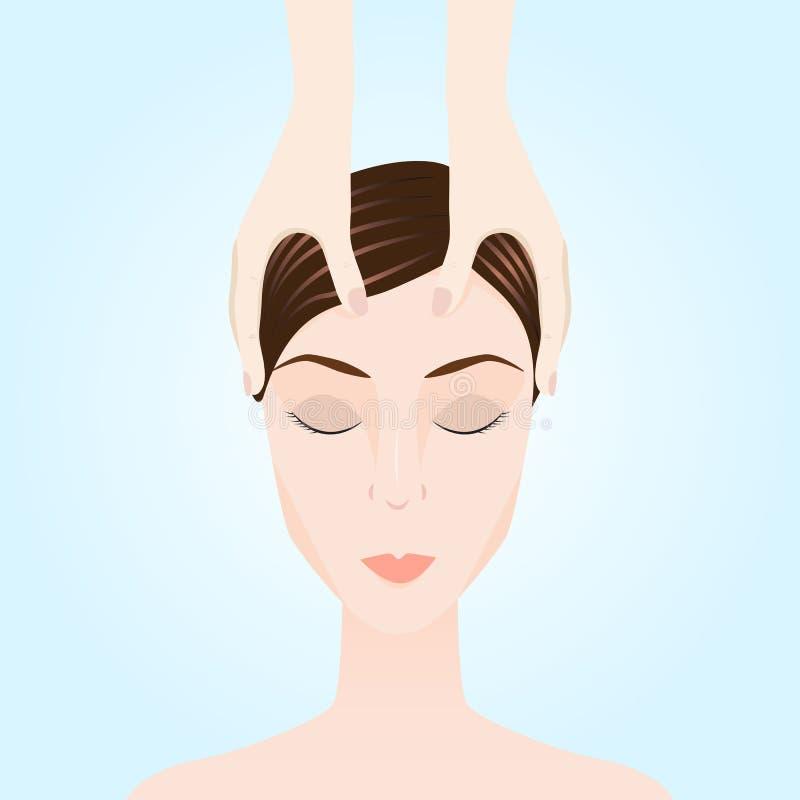 Ilustracja masaż Ręczna terapia royalty ilustracja
