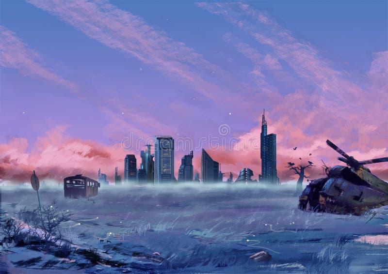 Ilustracja: Między miastem i pustkowiem ilustracji