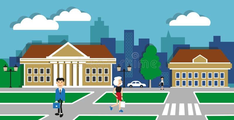 Ilustracja miastowy życie ilustracji