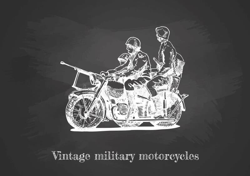 Ilustracja Militarni motocykle ilustracji
