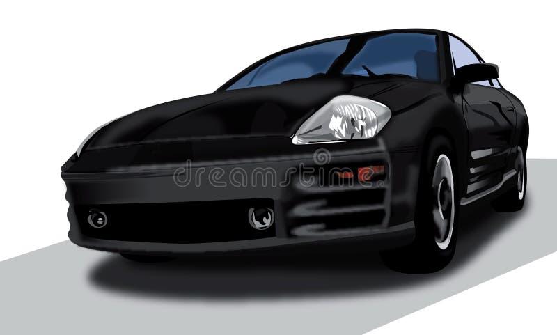 ilustracja Mitsubishi zaćmienie. ilustracji