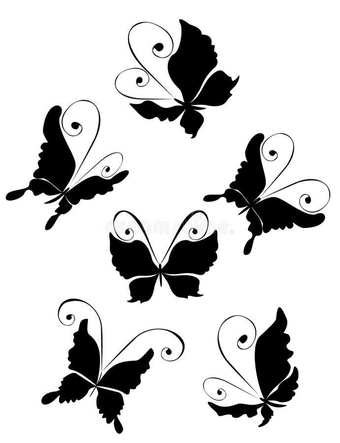 Download Ilustracja motyli wektor ilustracja wektor. Ilustracja złożonej z piękno - 13339688