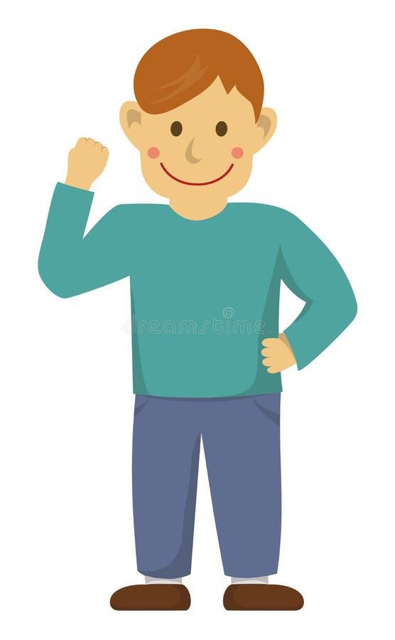 Ilustracja / motywacja wzorca gestów akcji mężczyzn ilustracja wektor