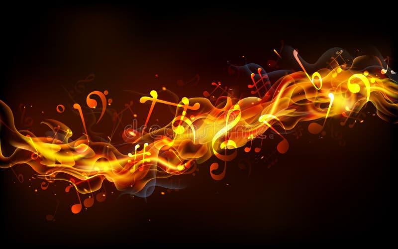 Ognista muzyka royalty ilustracja