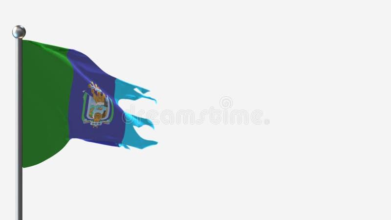 Ilustracja na Flagpole: Flagpole 3D z tatrowanymi flagami Santa Elena royalty ilustracja