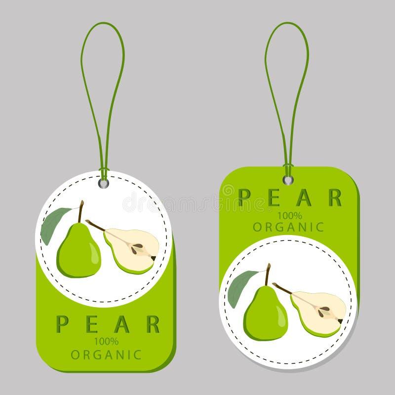 Ilustracja na temacie owocowa bonkreta, etykietka rynek ilustracji