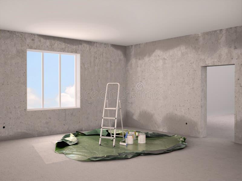 Ilustracja naprawa i obraz w pokoju ilustracji