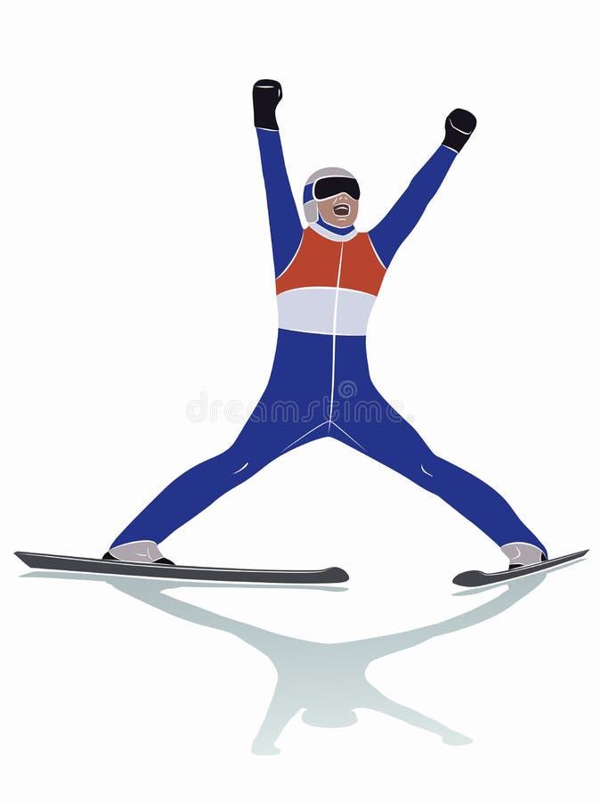 Ilustracja narciarska bluza, wektorowy remis royalty ilustracja