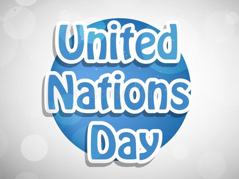 Ilustracja Narody Zjednoczone dnia tło ilustracji