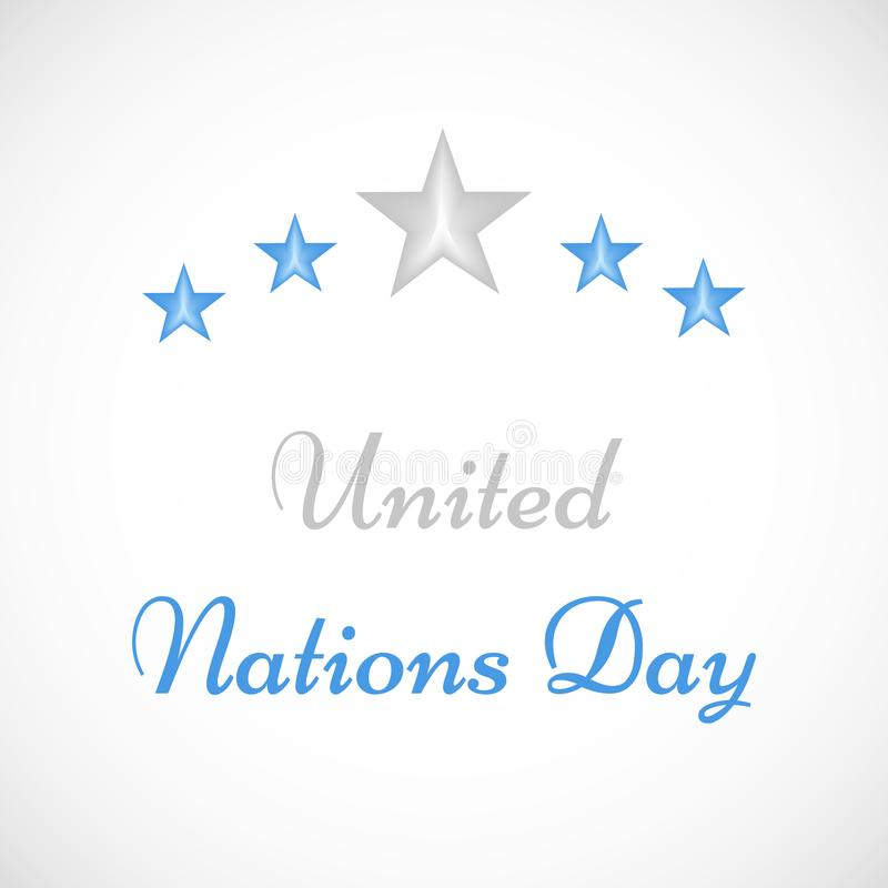 Ilustracja Narody Zjednoczone dnia tło royalty ilustracja
