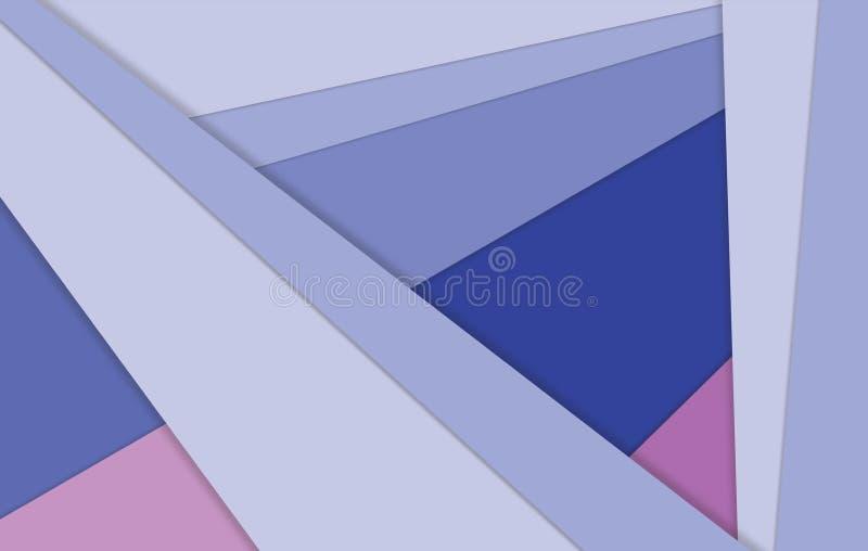 Ilustracja niezwykłego nowożytnego materialnego projekta wektorowy tapetowy tło obrazy royalty free