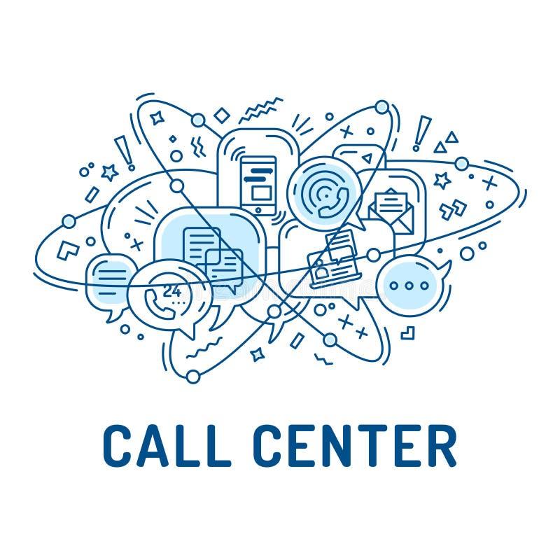 Ilustracja od komunikaci lub centrum telefonicznego ikon ilustracji