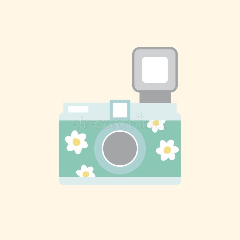 Ilustracja odizolowywająca cyfrowa kamera ilustracja wektor