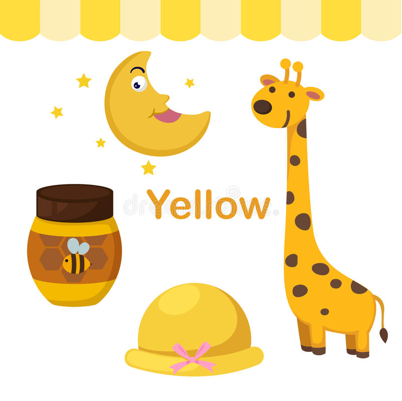 Ilustracja odosobniona koloru koloru żółtego grupa ilustracji