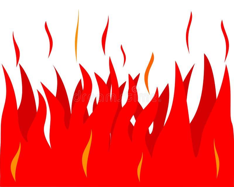 Ilustracja ogień na bielu ilustracja wektor