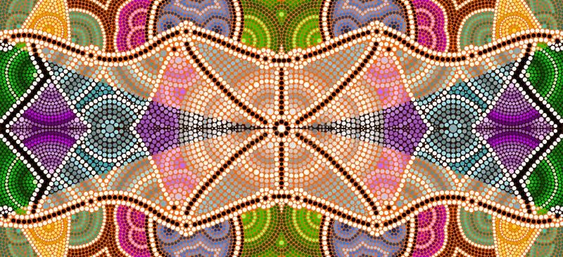 Ilustracja opierająca się na aborygenu stylu kropka obrazu depicti obrazy royalty free
