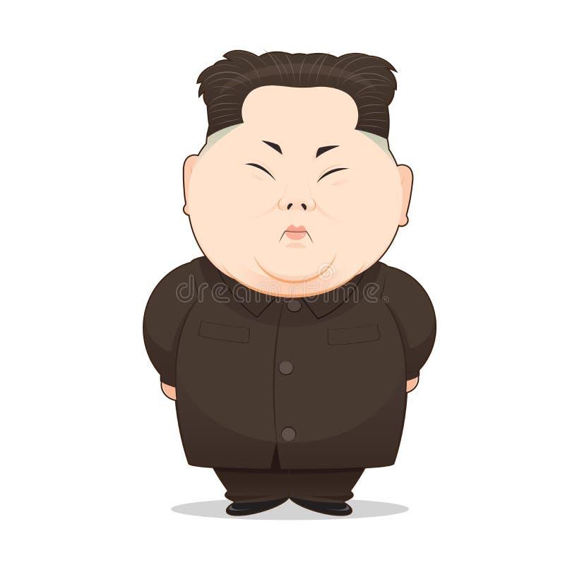 Ilustracja Północno-koreański lider ilustracja wektor