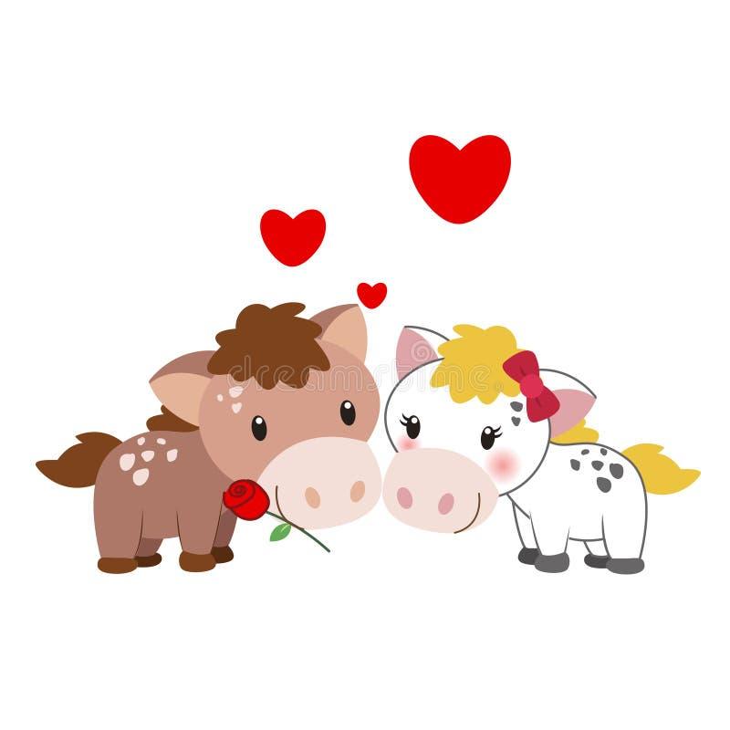 Ilustracja para koń royalty ilustracja