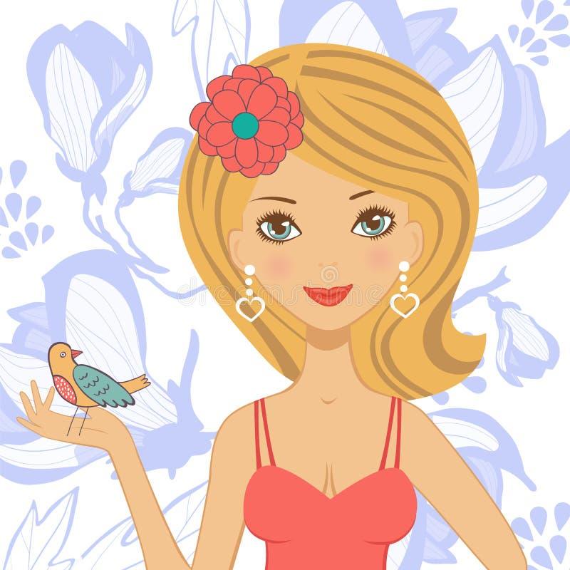 Ilustracja piękna młoda kobieta royalty ilustracja