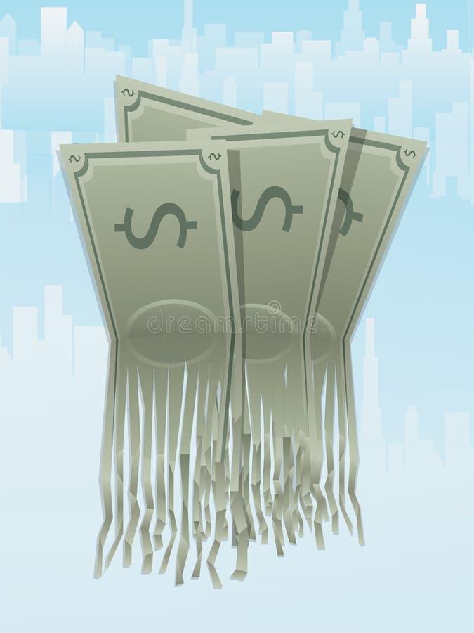Pieniądze strzępienie ilustracja wektor