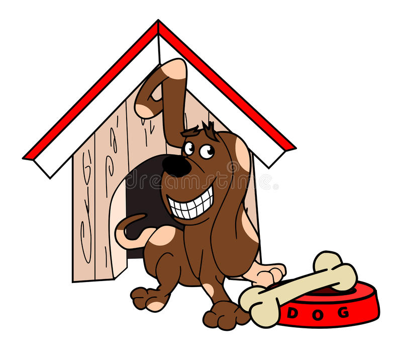 Ilustracja pies i jego kość ilustracji