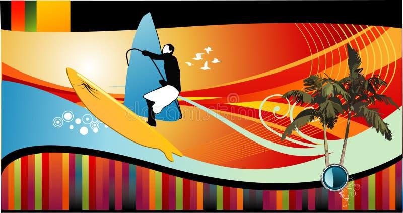 ilustracja plażowy wektor ilustracja wektor