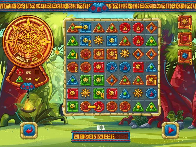 Ilustracja plac zabaw dla gry komputerowej dżungli T ilustracji