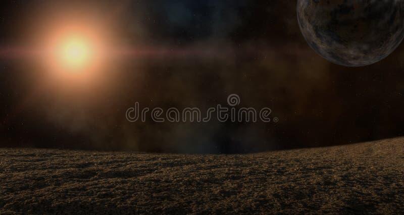 Ilustracja planety i gwiazda obrazy stock