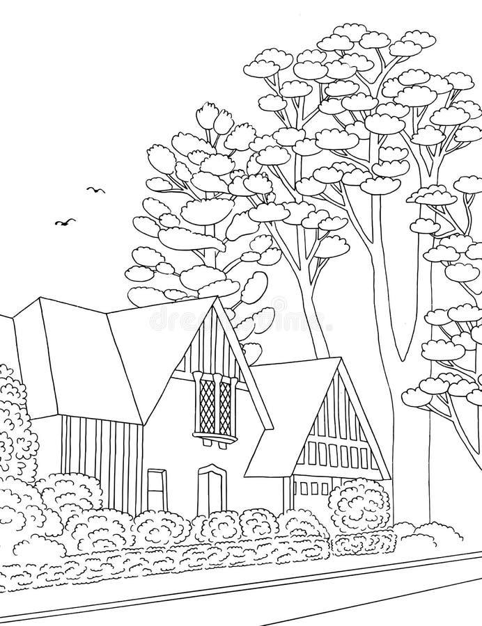 Ilustracja podmiejski neighbourhood ilustracja wektor