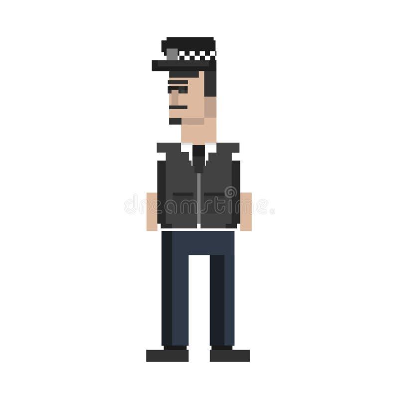 Ilustracja policjant w mundurze ilustracja wektor
