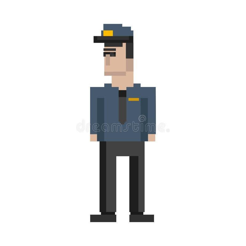 Ilustracja policjanta piksla avatar minimalny colour ilustracji