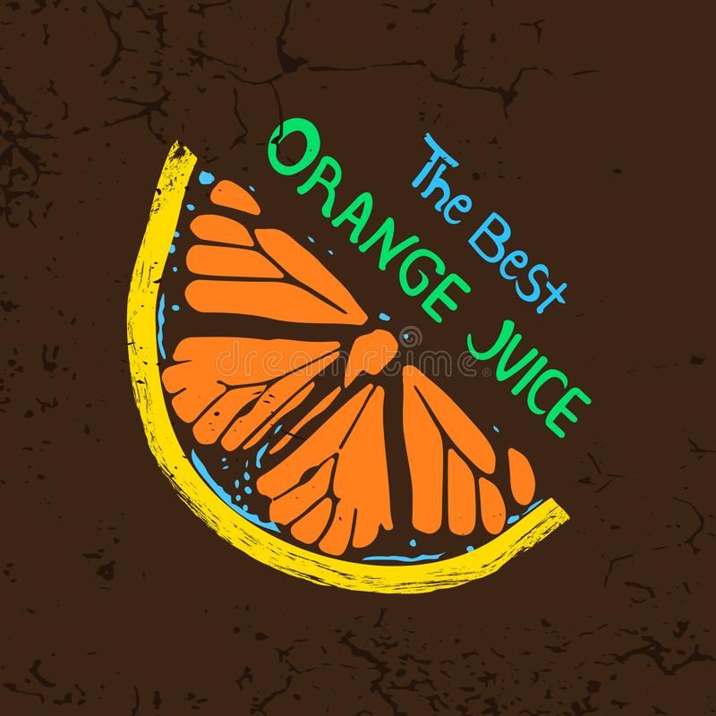 Ilustracja pomarańcze na brown tle royalty ilustracja