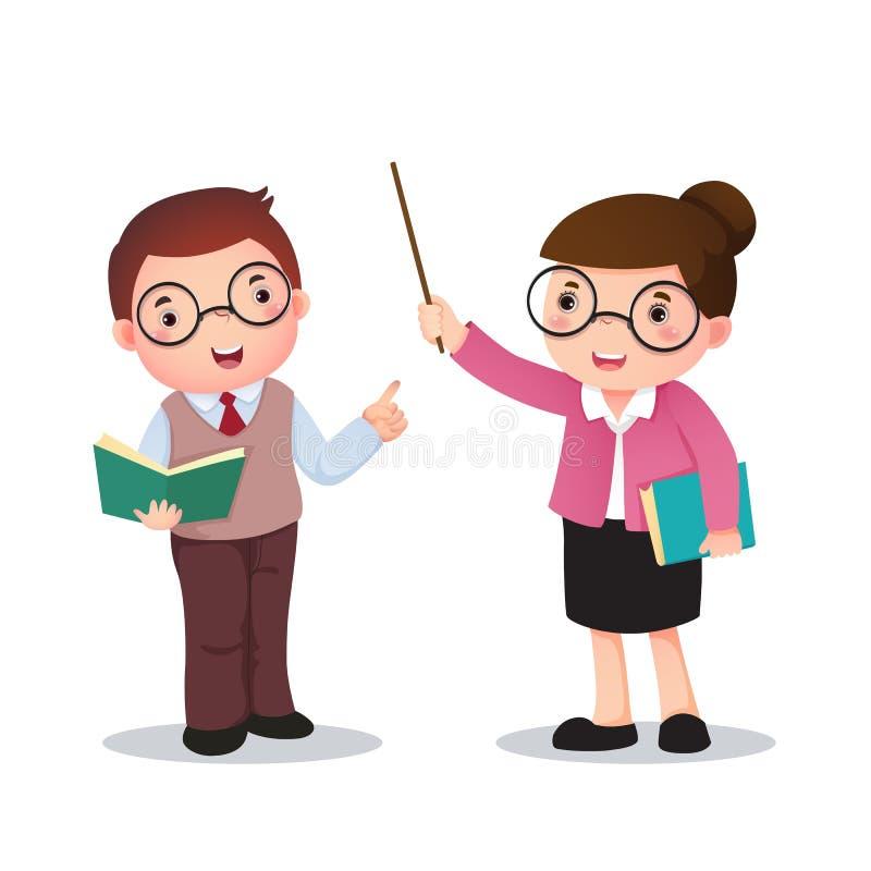 Ilustracja profession's kostium nauczyciel dla dzieciaków ilustracji