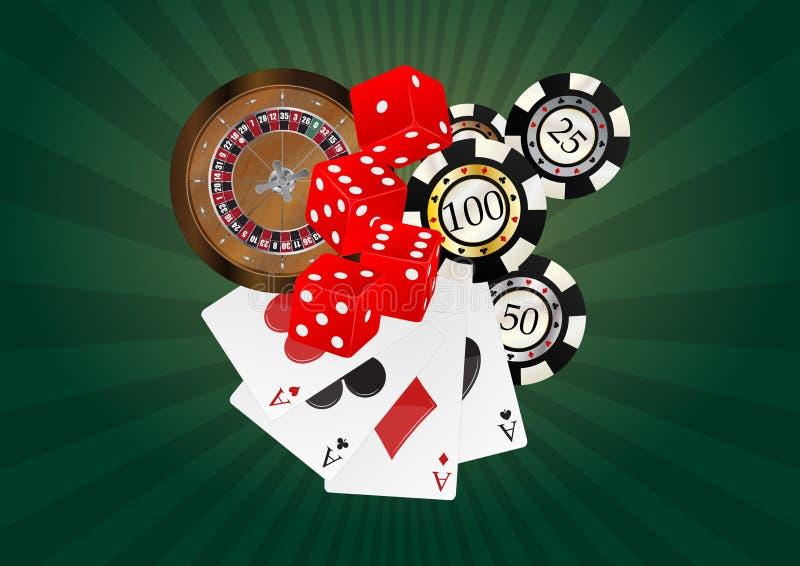 Przedmiota kasyno ilustracja wektor