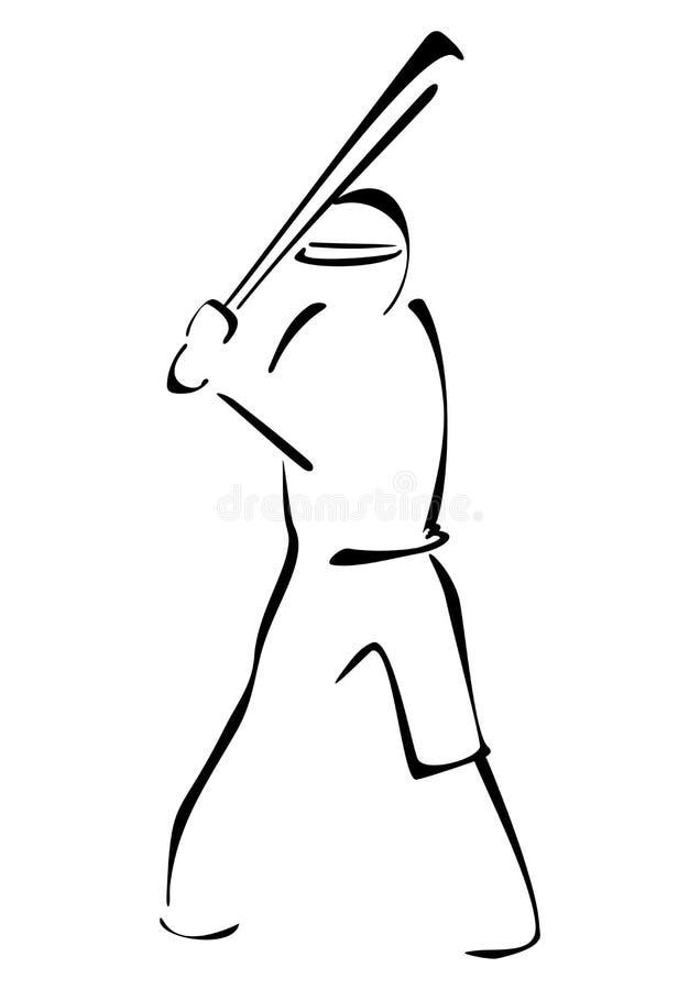 Baseballa strajkowicz ilustracji