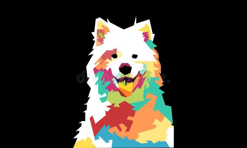 Ilustracja psy z wiele kolorami/pełni kolory royalty ilustracja