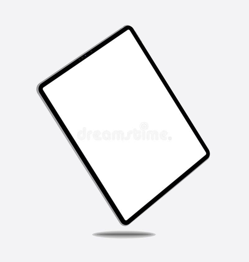 Ilustracja pusta komputerowa pastylka ilustracja wektor