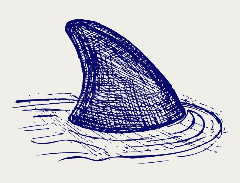 Ilustracja rafowy rekin ilustracji