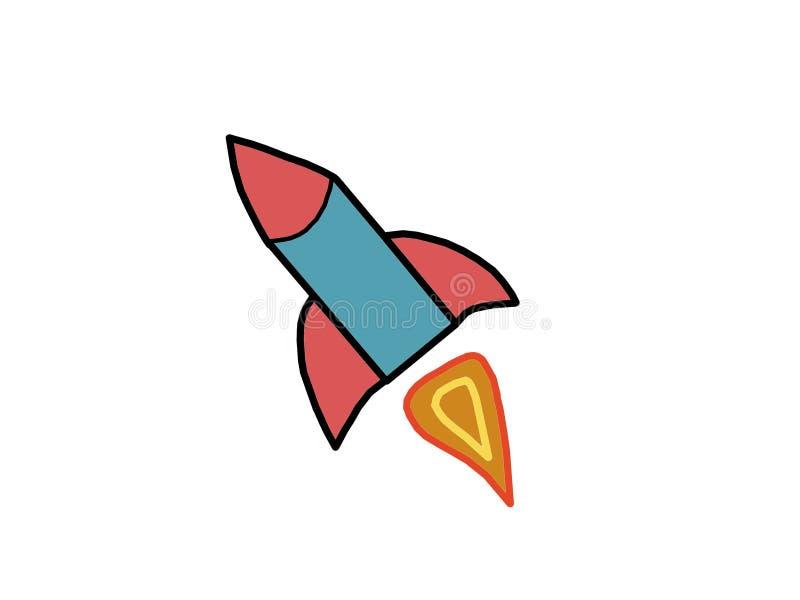 Ilustracja rakieta zdjęcia royalty free