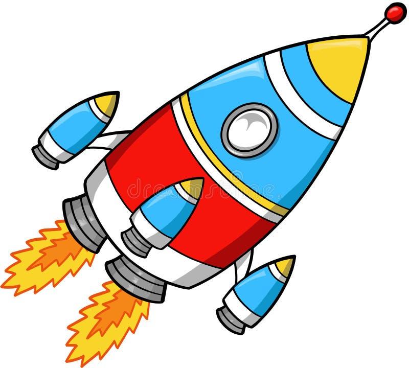 ilustracja rakieta wektora royalty ilustracja