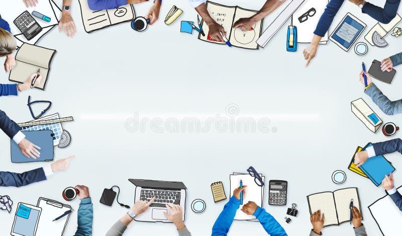 Ilustracja Ruchliwie ludzie biznesu Spotykać royalty ilustracja