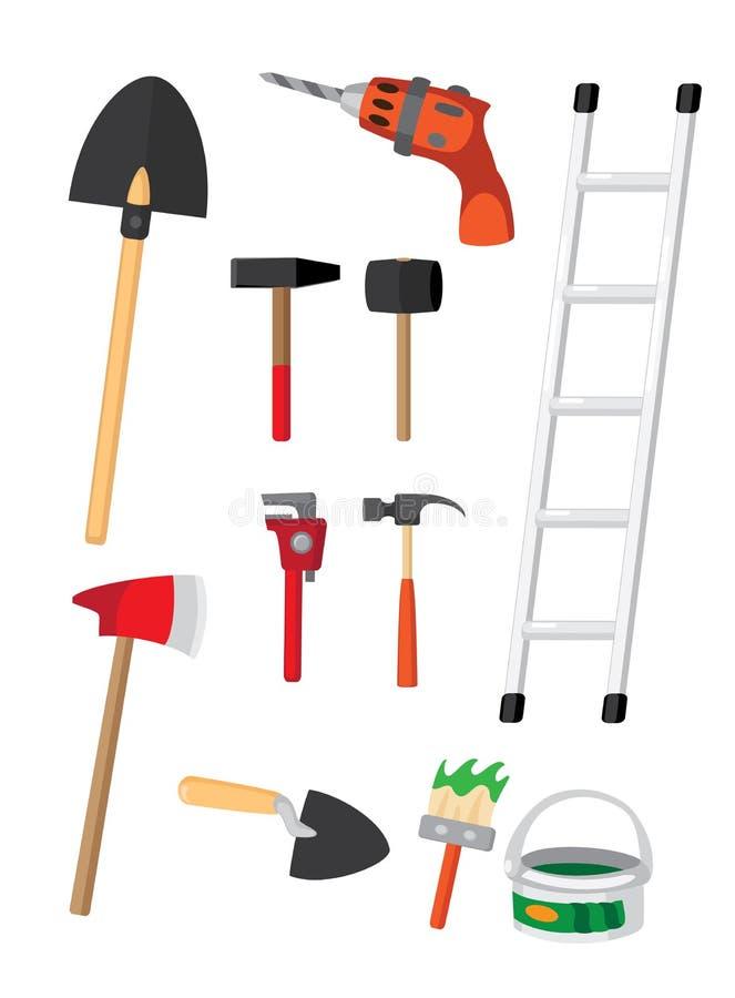 Download Set narzędzia ilustracja wektor. Obraz złożonej z instrument - 29733324
