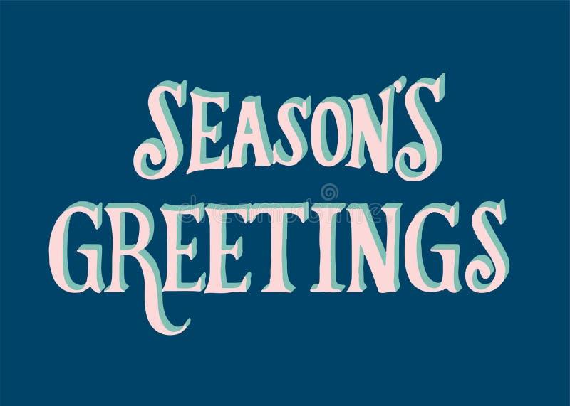 Ilustracja sezonów powitań typografia ilustracja wektor