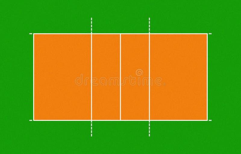 Ilustracja siatkówka sąd ilustracji