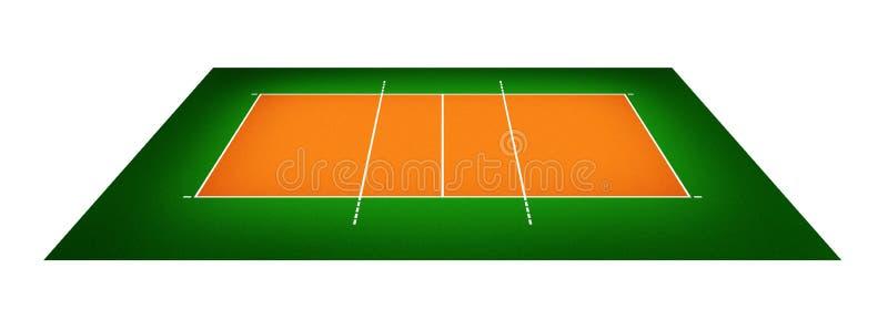 Ilustracja siatkówka sąd royalty ilustracja