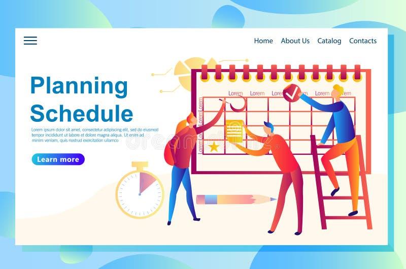 Ilustracja sieci pojęcia sztandar planuje niektóre wydarzenia wpólnie, ludzie wypełnia w rozkładzie royalty ilustracja