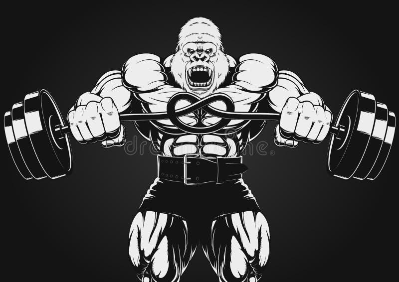 Ilustracja silny goryl royalty ilustracja
