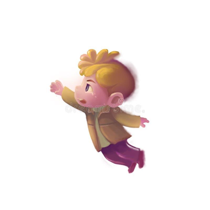 Ilustracja: Smutna chłopiec royalty ilustracja